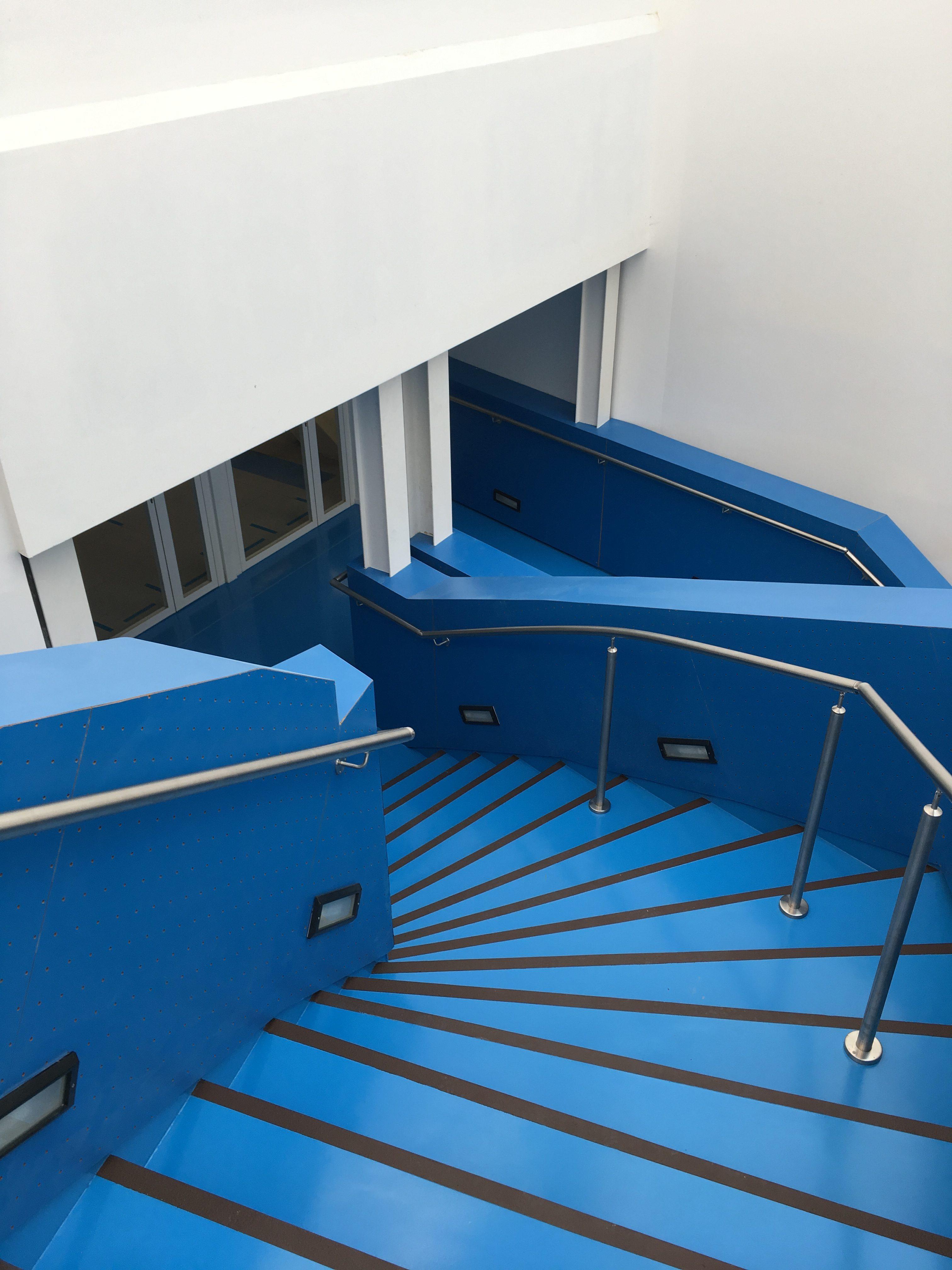 escalier sol resine